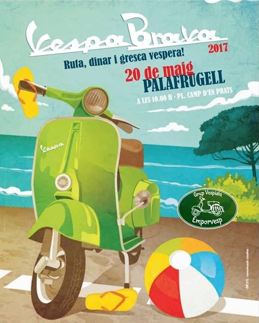 Vespabrava 2017 Ruta Palafrugell 20 de mayo