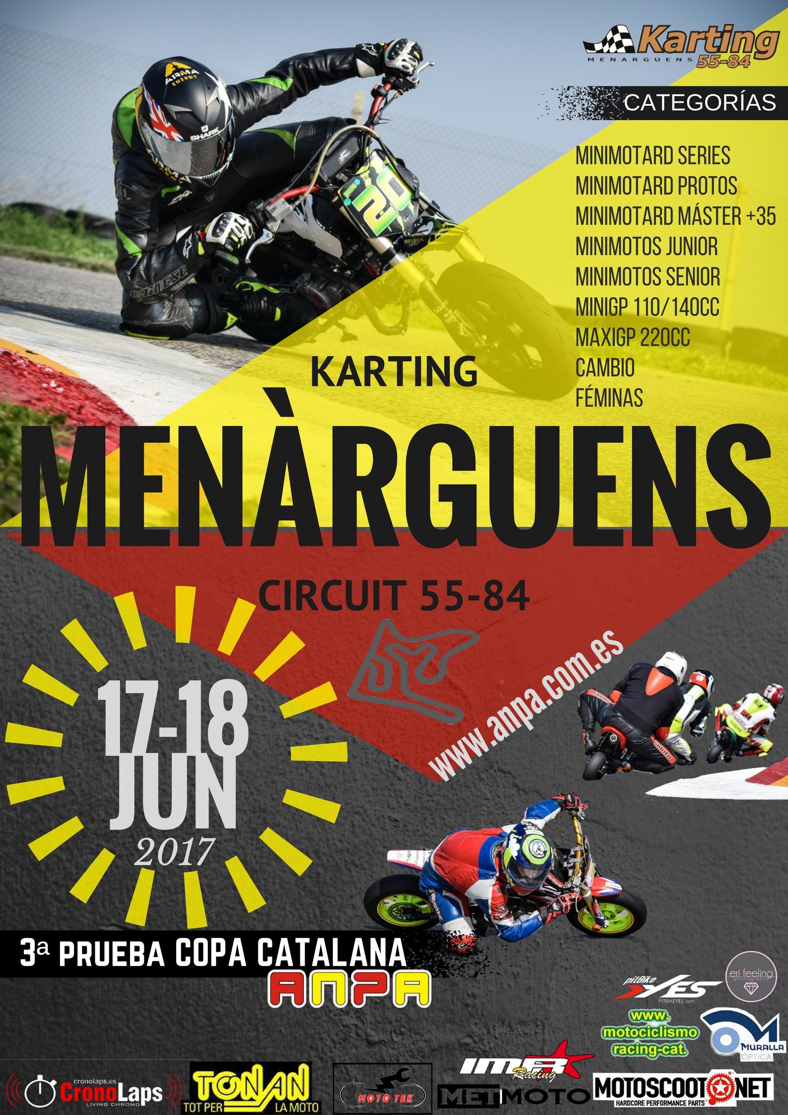 3ª Prueba Copa Catalana Circuito Menarguens 3ª Prueba Copa Catalana Circuito Menarguens Copa Catalana 17 - 18 junio 2017