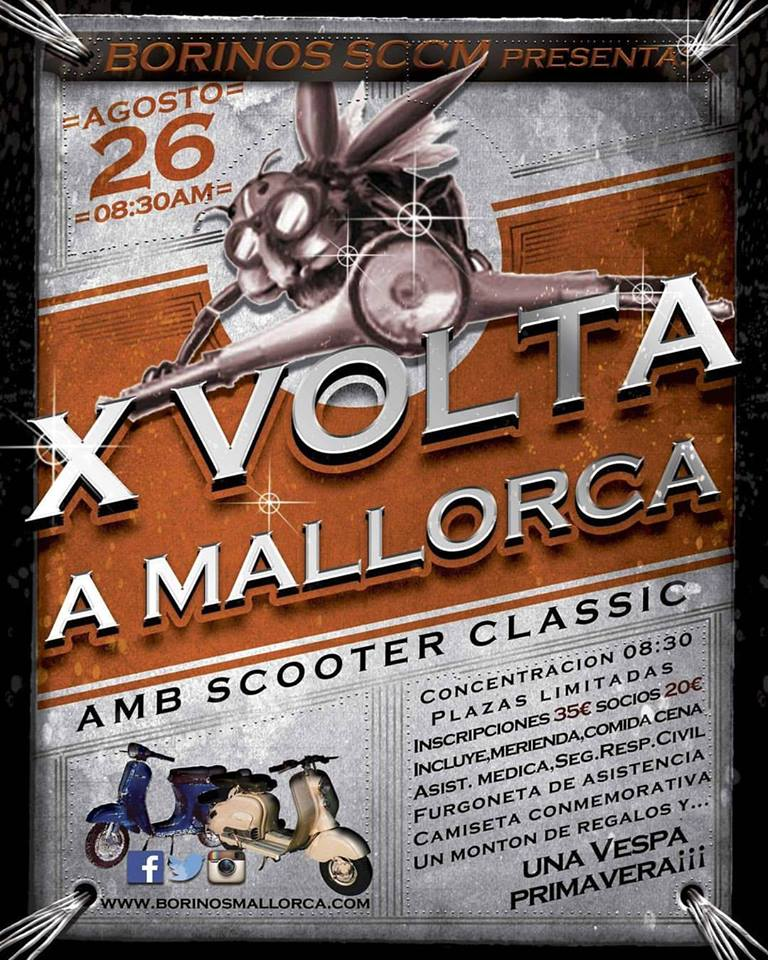 x Vuelta a Mallorca con Borinos Scooter Clàssic Club Mallorca