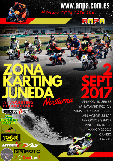 5ª Prueba Copa Catalana Zona Karting Juneda Nocturna