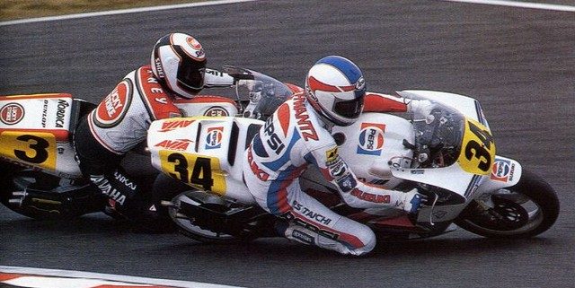 Schwantz y Rainey peleando