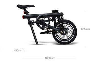 medidas de la bicicleta qicycle plegada